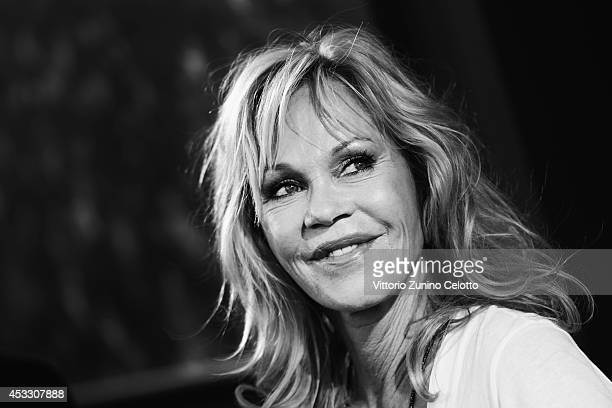 Actress Melanie Griffith attends a press conference during the 67th Locarno Film Festival on August 7 2014 in Locarno Switzerland