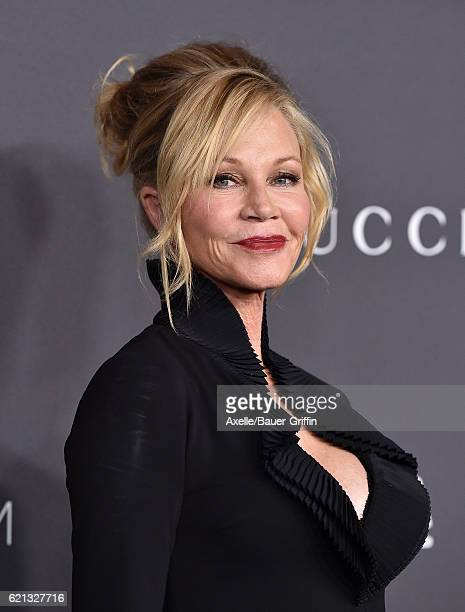 Actress Melanie Griffith attends the 2016 LACMA Art Film Gala honoring Robert Irwin and Kathryn Bigelow presented by Gucci at LACMA on October 29...