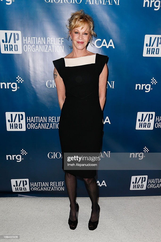 Actress Melanie Griffith attends the 2nd Annual Sean Penn and Friends Help Haiti Home Gala benefiting J/P HRO presented by Giorgio Armani at Montage Hotel on January 12, 2013 in Los Angeles, California.