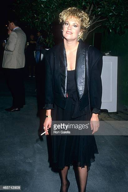 Actress Melanie Griffith attends the Fifth Annual MTV Video Music Awards on September 7 1988 at Universal Amphitheatre in Universal City California