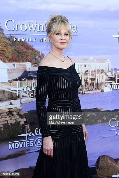 Actress Melanie Griffith attends the Hallmark Channel and Hallmark Movies and Mysteries Summer 2016 TCA press tour event on July 27 2016 in Beverly...