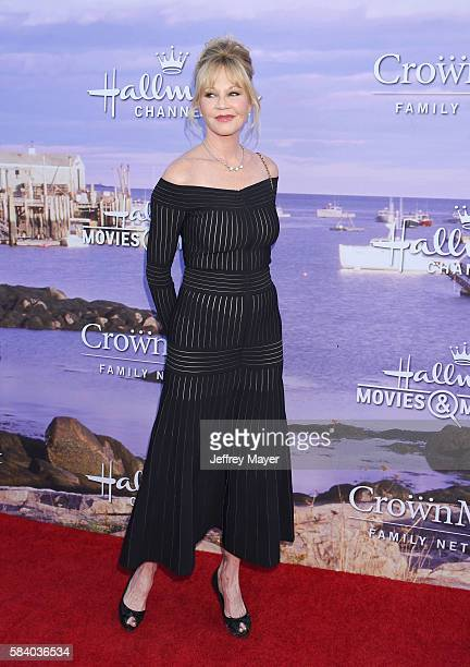 Actress Melanie Griffith attends the Hallmark Channel and Hallmark Movies and Mysteries Summer 2016 TCA press tour event at a private residence on...