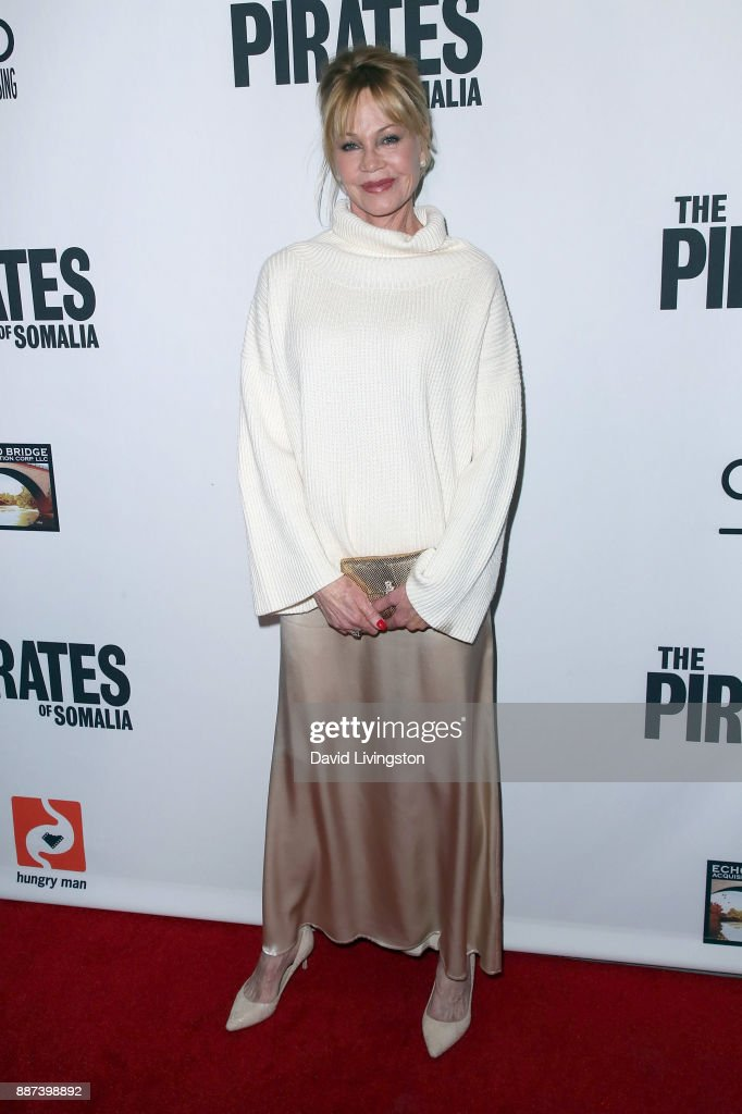 Actress Melanie Griffith attends the premiere of Front Row Filmed Entertainment's 'The Pirates of Somalia' at TCL Chinese 6 Theatres on December 6, 2017 in Hollywood, California.