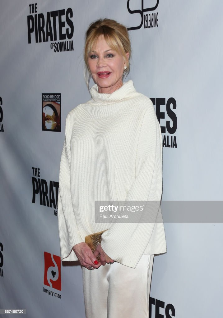 Actress Melanie Griffith attends the premiere of 'The Pirates Of Somalia' at The TCL Chinese 6 Theatres on December 6, 2017 in Hollywood, California.