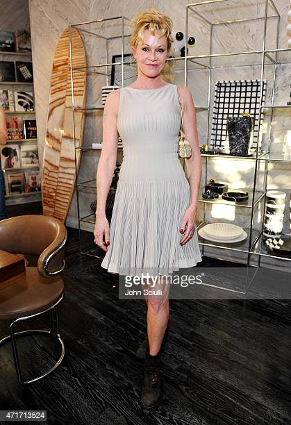 Actress Melanie Griffith celebrates the launch of Regime des Fleurs perfume at Kelly Wearstler Flagship Boutique in Los Angeles with PerrierJouet and...
