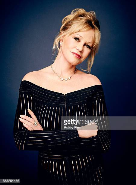 Actress Melanie Griffith is photographed at the Hallmark Channel Summer 2016 TCA on July 27 2016 in Los Angeles California