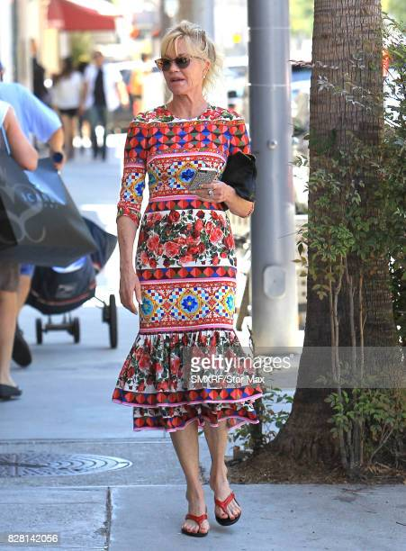 Actress Melanie Griffith is seen on August 8 2017 in Los Angeles California