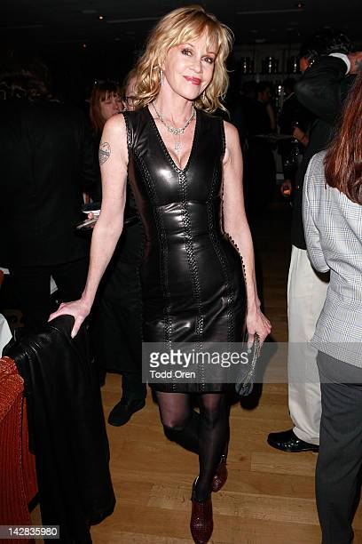 Actress Melanie Griffith poses during an evening benefiting The New York Rescue Workers and Gulf Coast Detoxification Projects at Fig Olive Melrose...
