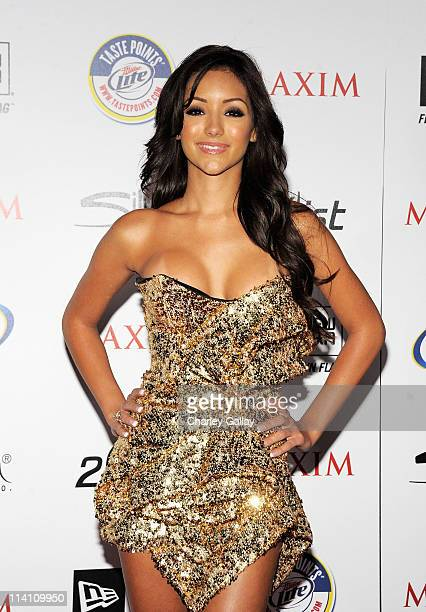 Actress Melanie Iglesias arrives at the 2011 Maxim Hot 100 Party with New Era Miller Lite 2ist and Silver Jeans Co held at Eden on May 11 2011 in...