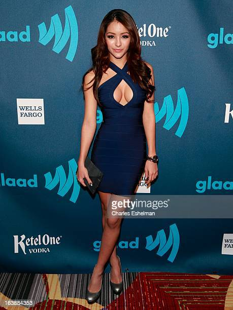 Actress Melanie Iglesias attends the 24th annual GLAAD Media awards at The New York Marriott Marquis on March 16 2013 in New York City