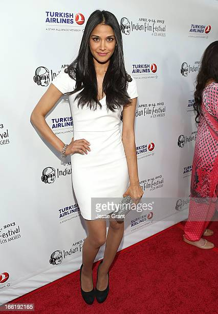 Actress Melanie Kannokada attends the Indian Film Festival of Los Angeles Opening Night Gala for Gangs Of Wasseypur at ArcLight Cinemas on April 9...