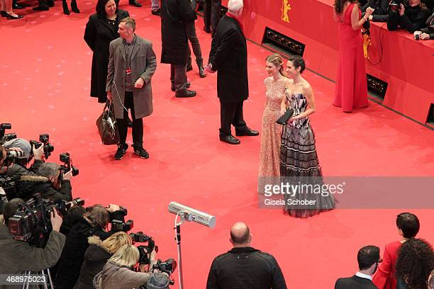 Actress Melanie Laurent and actress Jennifer Connelly attend the 'Aloft' premiere during 64th Berlinale International Film Festival at Berlinale...