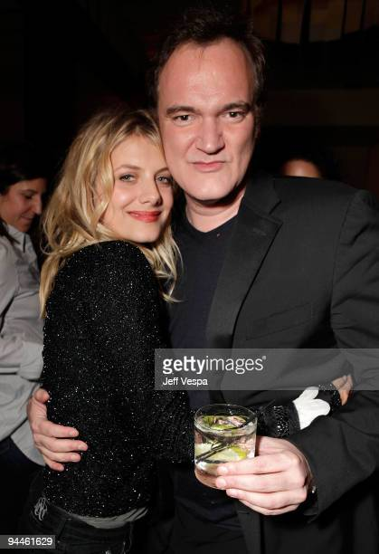 Actress Melanie Laurent and director/writer Quentin Tarantino attend the after party for the 'Inglourious Basterds' BluRay and DVD launch held at...
