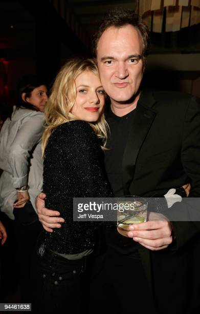 Actress Melanie Laurent and director/writer Quentin Tarantino attend the after party for the Inglourious Basterds BluRay and DVD launch held at Grace...