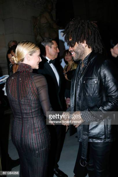 Actress Melanie Laurent and singer Lenny Kravitz attend the Opening Season Gala Ballet of Opera National de Paris Held at Opera Garnier on September...