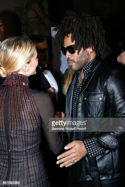 Actress Melanie Laurent and singer Lenny Kravitz attend the Opening Season Gala Ballet of Opera National de Paris Held at Opera Garnier on September...