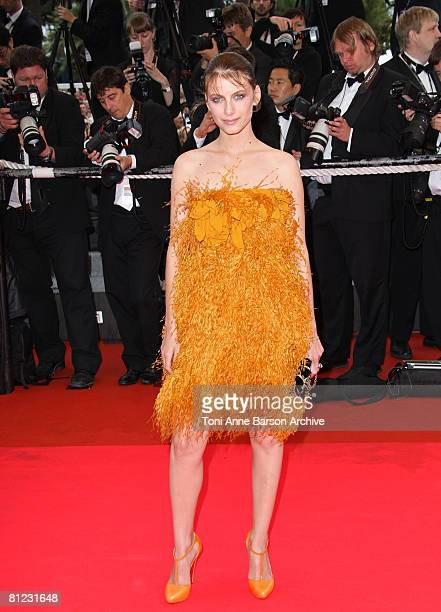 Actress Melanie Laurent arrives at the Palme d'Or Closing Ceremony at the Palais des Festivals during the 61st International Cannes Film Festival on...