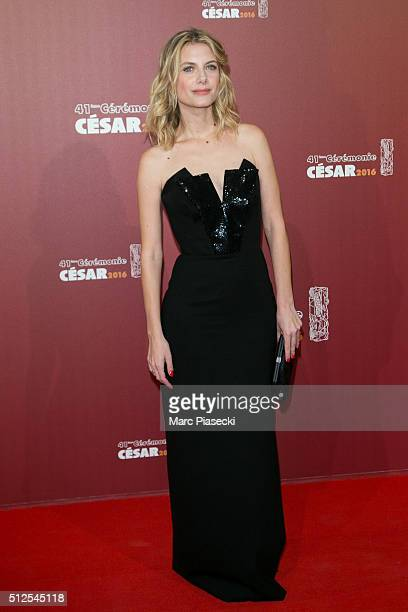 Actress Melanie Laurent arrives to attend the 'Cesars Film Awards 2016' ceremony at Theatre du Chatelet on February 26 2016 in Paris France