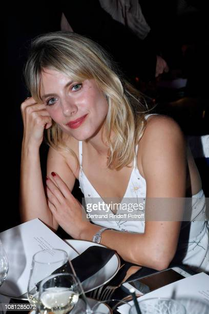Actress Melanie Laurent attends the Annual Charity Dinner hosted by the AEM Association Children of the World for Rwanda at Pavillon Ledoyen on...