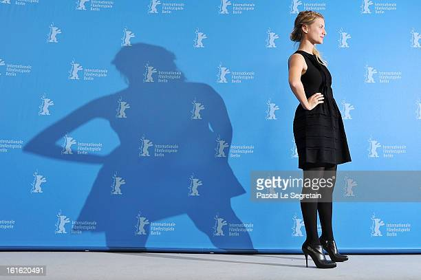 Actress Melanie Laurent attends the 'Night Train to Lisbon' Photocall during the 63rd Berlinale International Film Festival at the Grand Hyatt Hotel...