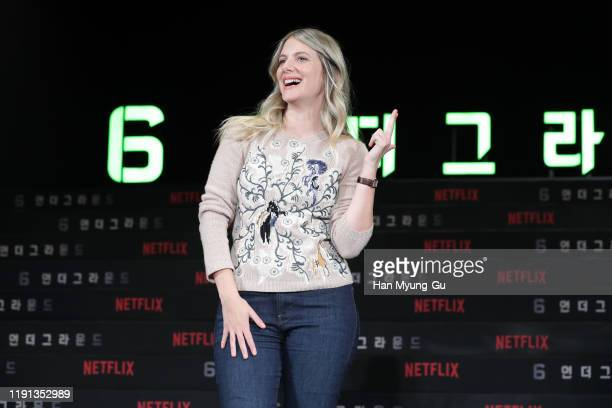 Actress Melanie Laurent attends the press conference for the world premiere of Netflix's '6 Underground' at Four Seasons Hotel on December 02 2019 in...