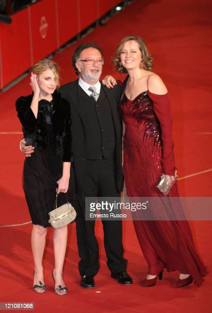 Actress Melanie Laurent director Alessandro Capone and actress Greta Scacchi attend 'L'Amour Cache' premiere during day 3 of the 2nd Rome Film...