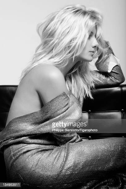 Actress Melanie Laurent is photographed for Madame Figaro on October 10, 2011 in Paris, France. Published image. Figaro ID:101927-003. Dress by...