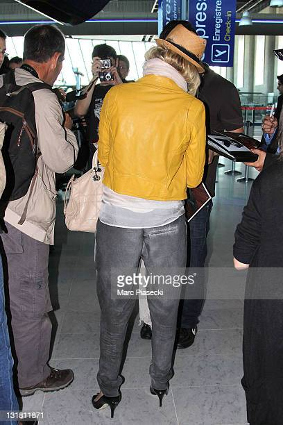 Actress Melanie Laurent is sighted at Nice airport on May 23 2011 in Nice France