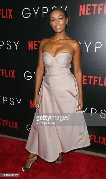 "Actress Melanie Liburd attends the special screening of ""Gypsy"" hosted by Netflix at Public Arts at Public on June 29, 2017 in New York City."