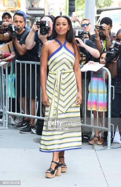 Actress Melanie Liburd is seen walking in Soho on June 29, 2017 in New York City.