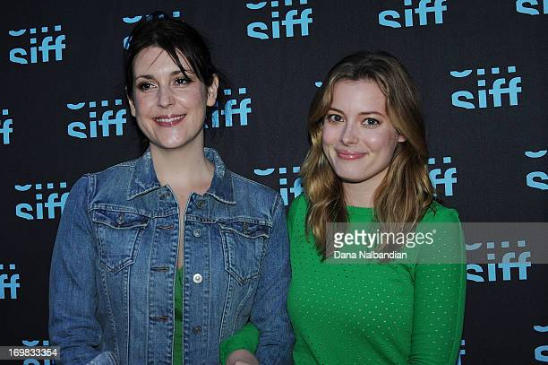 Actress Melanie Lynskey and actress Gillian Jacobs attend the Seattle International Film Festival premiere of Teddy Bears at Uptown Cinema on June 1...