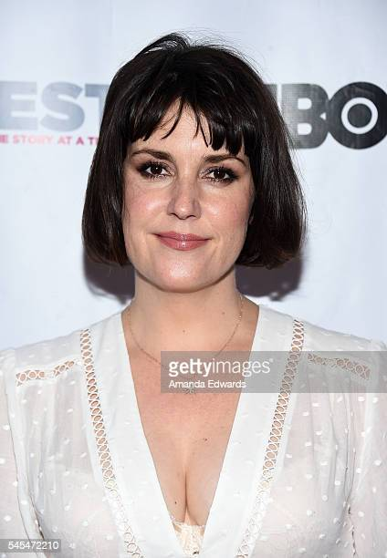 Actress Melanie Lynskey arrives at the 2016 Outfest Los Angeles LGBT Film Festival Opening Night Gala of The Intervention at the Orpheum Theatre on...