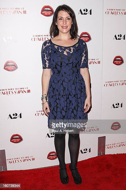 Actress Melanie Lynskey arrives at the premiere of A24's 'A Glimpse Inside The Mind of Charles Swan III' held at the ArcLight Hollywood on February 4...