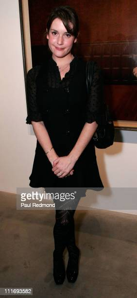 Actress Melanie Lynskey attends a reception at Corey Helford Gallery for Chris Anthony's I'm The Most Normal Person I Know exhibit on January 26 2008...