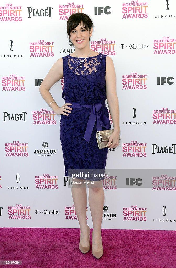 Actress Melanie Lynskey attends the 2013 Film Independent Spirit Awards at Santa Monica Beach on February 23, 2013 in Santa Monica, California.