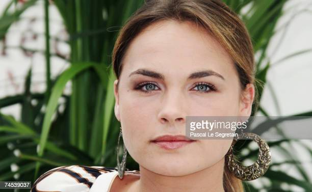 Actress Melanie Maudran attends a photocall promoting the television serie 'Le Sanglot des Anges'' on the first day of the 2007 Monte Carlo...