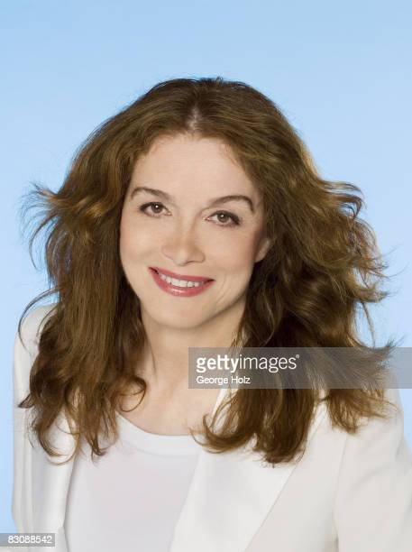 Actress Melanie Mayron poses at a portrait session for People Magazine on May 24 2007 in Los Angeles California