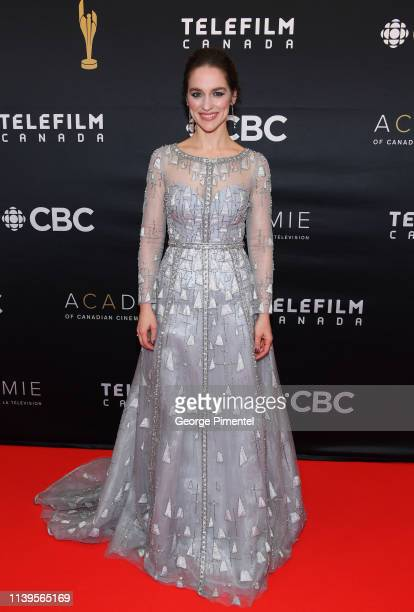 Actress Melanie Scrofano attends the 2019 Canadian Screen Awards Broadcast Gala at Sony Centre for the Performing Arts on March 31 2019 in Toronto...