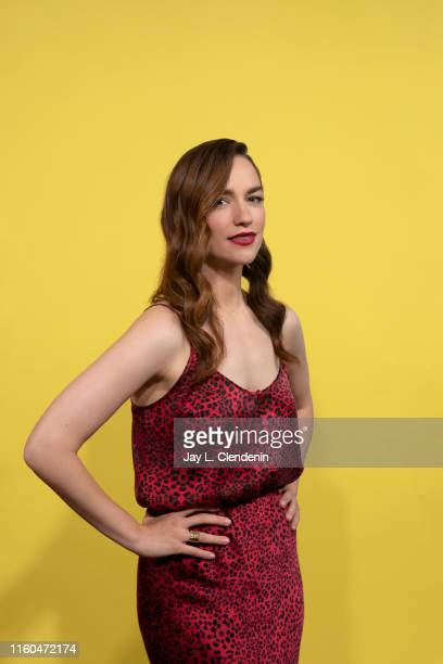 Actress Melanie Scrofano of 'Wynonna Earp' is photographed for Los Angeles Times at ComicCon International on July 20 2019 in San Diego California...