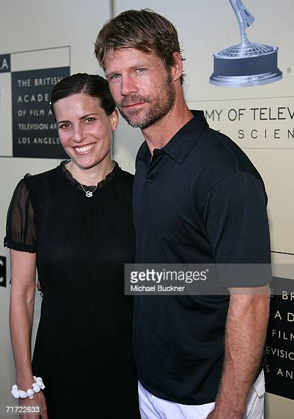 Actress Melanie ShatnerGretch and actor Joel Gretch arrive at the BAFTA/LAAcademy of Television Arts and Sciences Tea Party at the Century Hyatt on...