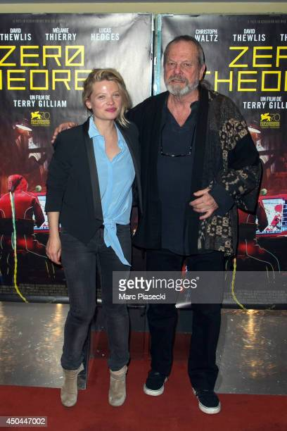Actress Melanie Thierry and director Terry Gilliam attend the 'Zero Theorem' Premiere at UGC Cine Cite des Halles on June 11 2014 in Paris France