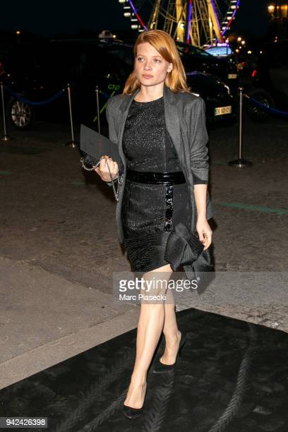 Actress Melanie Thierry arrives to attend the 'Madame Figaro' dinner at Automobile Club de France on April 5 2018 in Paris France