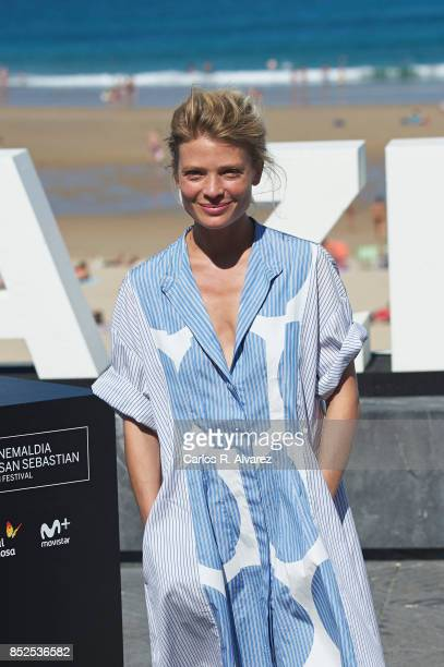 Actress Melanie Thierry attends 'La Douleur/ Memoir Of Pain' photocall during 65th San Sebastian Film Festival on September 23 2017 in San Sebastian...