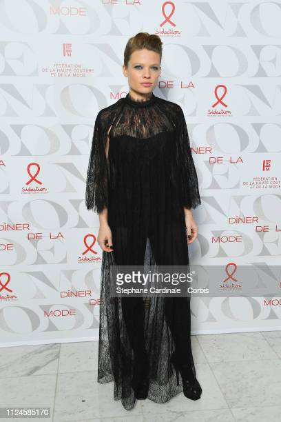 "Actress Melanie Thierry attends the 17th ""Diner De La Mode"" as part of Paris Fashion Week on January 24, 2019 in Paris, France."