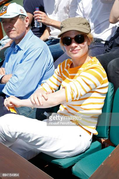 Actress Melanie Thierry attends the 2017 French Tennis Open Day Thirteen at Roland Garros on June 9 2017 in Paris France