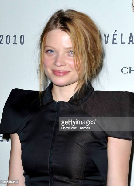 Actress Melanie Thierry attends the Chaumet's cocktail party for Cesar's Revelations on January 18 2010 in Paris France