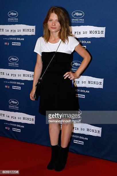 Actress Melanie Thierry attends the 'Juste la fin du Monde' Paris Premiere at Mk2 Bibliotheque on September 15 2016 in Paris France