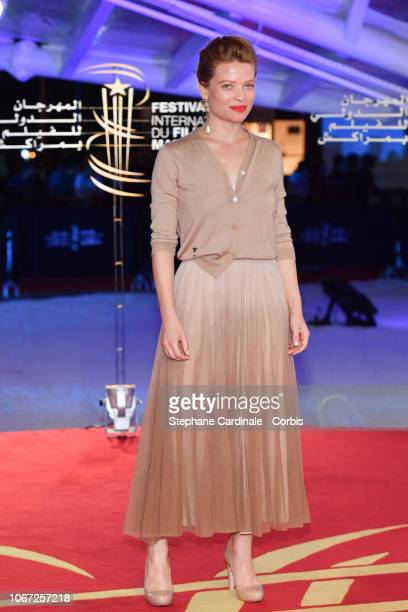 Actress Melanie Thierry attends the Tribute to Robert De Niro during the 17th Marrakech International Film Festival on December 1, 2018 in Marrakech,...
