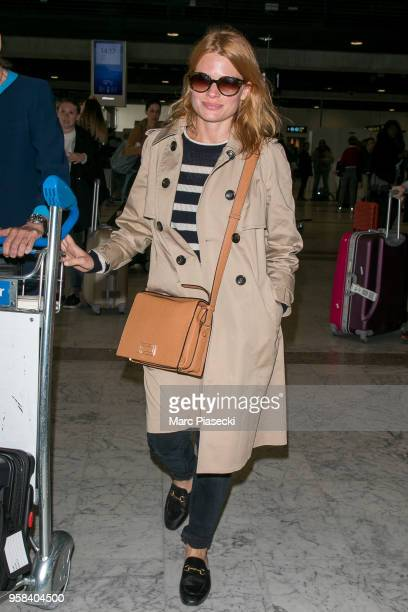 Actress Melanie Thierry is seen during the 71st annual Cannes Film Festival at Nice Airport on May 14 2018 in Nice France