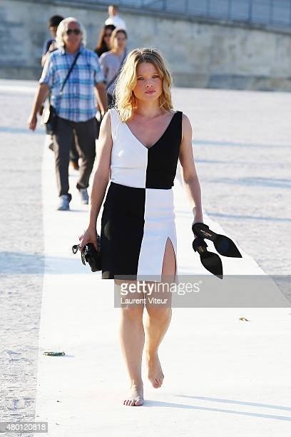 Actress Melanie Thierry is seen in Le Jardin des Tuileries on July 9 2015 in Paris France
